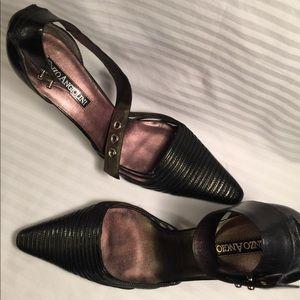 Enzo Angiolini black ankle strap dress sandal